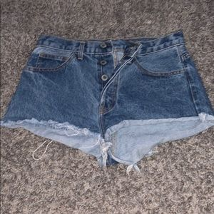 4 button cheeky jean shorts